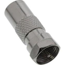 Adaptateur coaxial connecteur F (SAT) sur IEC-prise (Antenne)