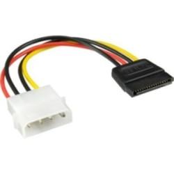 """Câble adaptateur d'électricité SATA, InLine®, 1x 5,25"""" fem. à 15pin SATA mâle"""