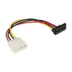 """Câble adaptateur d'électricité SATA, InLine®, 1x 5,25"""" fem. à 15pin SATA mâle, plié vers bas"""