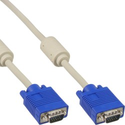 Câble S-VGA, InLine®, 15 broches HD mâle/mâle, beige, 0,5m