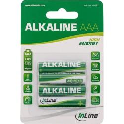 InLine® Alkaline High Energy Batterie, Micro (AAA), 4er Blister