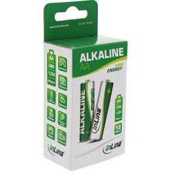 InLine® Alkaline High Energy Batterie, Mignon (AA), 12er Pack