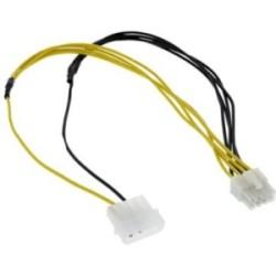 Adaptateur d'électricité, InLine®, 4 broches - 8 broches, bloc d'alimentation - carte mère, 45cm