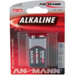 Ansmann Alkaline Batterie, 9V-Block, 1er Pack (1515-0000)