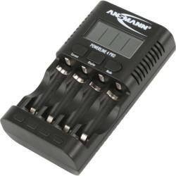 Ansmann Powerline 4 pro Ladegerät inkl. USB-Ausgang, beleuchtetes Display (1001-0005)