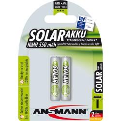 "Ansmann NiMH-Akku ""Solar"", Micro (AAA), 550mAh, 2er Blister (1311-0001)"