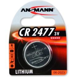 Ansmann Knopfzelle 3V Lithium CR2477, 1er Pack (1516-0010)