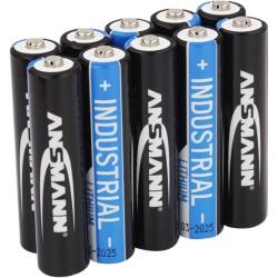 ANSMANN Lithium-Industriebatterie Micro AAA, 10er-Pack (1501-0010)