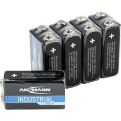 ANSMANN Lithium-Industriebatterie 9V-E-Block, 5er-Pack (1505-0002)