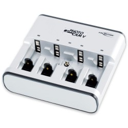 "Ansmann ""PhotoCam V"", Ladegerät für 1-4 Micro AAA / Mignon AA / Baby C / Mono D und 1x 9V E-Block Akkus"