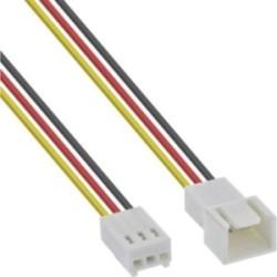 Rallonge pour câble ventilateur, InLine®, 3 broches Molex mâle/fem., longueur 30cm