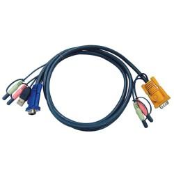 ATEN 2L-5302U KVM Kabelsatz, VGA, USB, Audio, Länge 1,8m