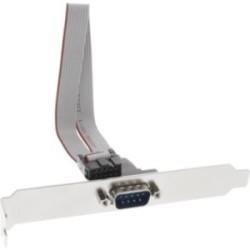 Équerre de fente sériel, InLine®, 9-pol prise à 10-pin connecteur femelle, 1:1, 0,25m