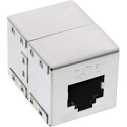 Cat. 6 Accouplement câble patch 2x RJ45 prise femelle blindé