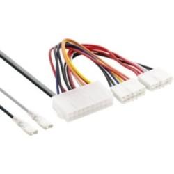 Adaptateur d'électricité interne, InLine®, 20 broches ATX-NT - P8/P9 carte mère AT + interrupteur, 20/80cm