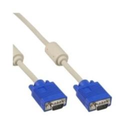 Câble S-VGA, InLine®, 15 broches HD mâle/mâle, beige, 1,5m