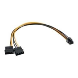 Adaptateur d'électricité interne, Inline®, 2x4 broches - 6 broches pour cartes graphique PCIe (PCI-Express)