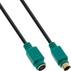 Rallonge PS/2, InLine®, mâle/fem. 2m PC99, prises vert, PREMIUM