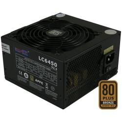 Netzteil ATX LC-Power LC6450 V2.3, black, 120mm, 450W, aktiv-PFC, 80PLUS