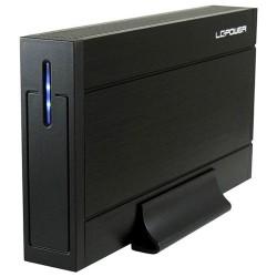 "Gehäuse 8,89cm (3,5""), USB 3.0, LC-Power LC-35U3-Sirius, für SATA HDD, schwarz"