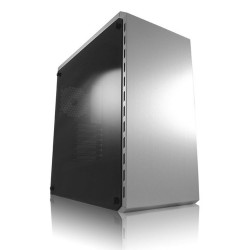 LC-Power Midi-Tower, ATX Gaming Gehäuse 986S, White Shadow, silber / weiß, ohne Netzteil