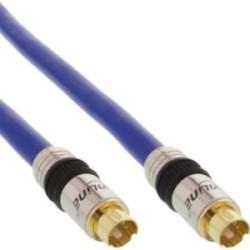 Câble S-VHS, InLine®, PREMIUM, prise doré, 4 broches mini DIN mâle/mâle, 0,5m