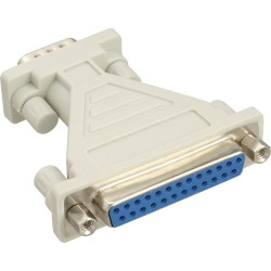 Adaptateur AT, InLine®, 25 broches Sub D fem. à 9 broches Sub D St