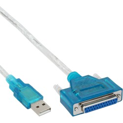 USB - 25 broches. parallèle, InLine®, câble adaptateur imprimeuse