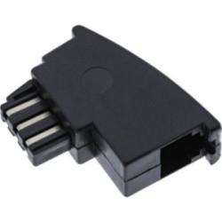 Adaptateur TAE-F InLine®, prise TAE-F sur RJ11 prise femelle, pour importation téléphone