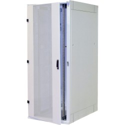 """19"""" Netzwerkschrank 42HE, zerlegbar, Triton RZA-42-A88-CAX-A1, 800x800, Glastür, lichtgrau"""