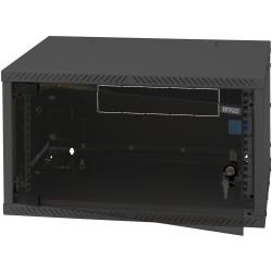 "19"" Wandschrank 9HE, Triton RXA-09-AS4-BAX-A1, 550x400, zerlegbar, Glastür, schwarz"