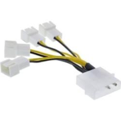 """Câble adaptateur ventilateur, InLine®, 4x ventilateur 3 broches. à 5,25"""""""