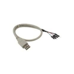 Câble adaptateur USB 2.0, InLine®, prise A sur connecteur IDC, 40cm