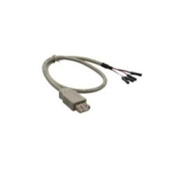 Câble adaptateur USB 2.0, InLine®, prise femelle A sur connecteur IDC, 0,4m