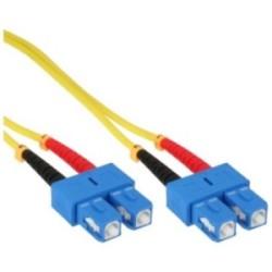 LWL câble duplex, InLine®, SC/SC 9/125µm, 15m