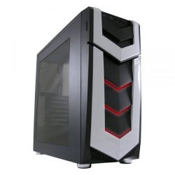 LC-Power Midi-Tower, boîtier de jeu ATX 987B, Silent Slinger, noir, sans alimentation