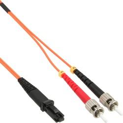 LWL câble duplex MTRJ/ST, 50/125µm, 1m