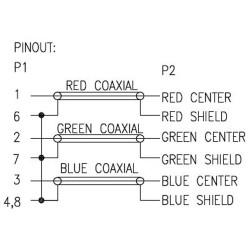 Câble VGA RGB, VGA prise à 3x connecteur Cinch, 10m