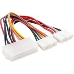 Adaptateur d'électricité interne, InLine®, 20 broches ATX-NT - P8/P9 carte mère AT, 20cm